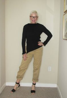 What Jeanne Wore: Black and Khaki - Two Take on Style