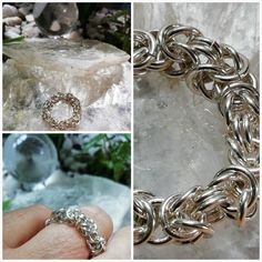 Sterling Silver 925 Chainmaille Ring Byzantine  #ring #bysantin #chainmaille 925 Silver, Silver Rings, Sterling Silver, Chainmaille, Byzantine, Bronze, Antiques, Shop, Pattern