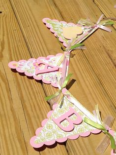 Baby Name Banner Girl Baby Shower by SharingAPassionINC on Etsy