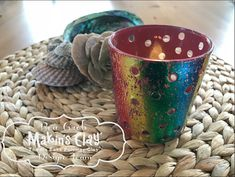 Makin's Clay® Blog: Foiled Tea Light Candle Holder by Bea Grob
