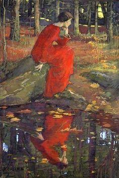 Elizabeth Forbes (Canadian, 1859-1912) -The Leaf   https://en.wikipedia.org/wiki/Elizabeth_Forbes_(artist)