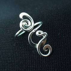 Sterling Silver Toe Ring Twisted Wire Wrapped by Forkwhisperer