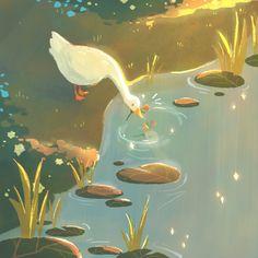 """Honk honk im a narcissist goose ✨ Pretty Art, Cute Art, Illustrator, Guache, Aesthetic Art, Cool Drawings, Art Inspo, Art Reference, Amazing Art"