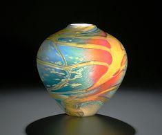 Cosmos Vase: John & Heather Fields: Art Glass Vase - Artful Home