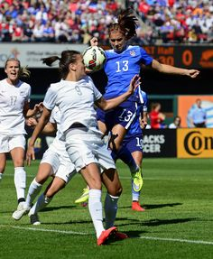 Alex Morgan vs. New Zealand, April 4, 2015, in St. Louis. (Jeff Roberson/AP)