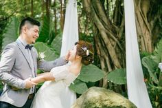 Forest wedding /  tree wedding ceremony  / green wedding / wedding photo