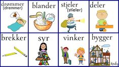 Norsk verbs Norwegian Words, Norway Language, Chinese English, Learning, Languages, Humor, Pictures, Idioms, Studying