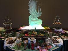 #wedding #fruit #buffet #bride #groom #mothers #day #ice #sculpture #icesculpture Fruit Buffet, Ice Sculptures, Bride Groom, Mothers, Backdrops, Special Occasion, Reception, Golf, Club