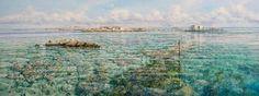 Larry Mitchell - Painting -Coronation Island Abrolhos - Sea - Ocean - Photorealism - Oil on Canvas - Australia