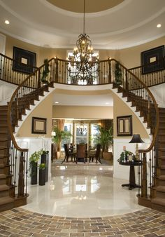 Luxury foyer and entryway.