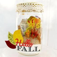 Fall Mason Jar Woodland Scene - The Silly Pearl