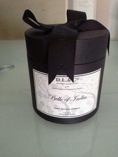DL & Co Belle of India rare botanic  luxury scented candle 8oz 50 hours illumination