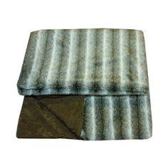 Luxury Grey Faux Fur Throw   Dunelm Mill