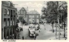 Twitter / ZowasUtrecht: Janskerkhof: Spitsuur in de zomer van 1939.