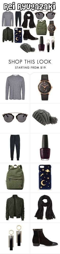 """""""Rei!"""" by raven-ambermore ❤ liked on Polyvore featuring Longines, Christian Dior, Y-3, OPI, Herschel Supply Co., CHARLES & KEITH, LE3NO, Steve Madden, Avon and Gucci"""