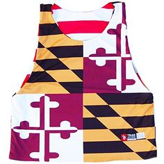 Maryland Flag Quads and American Flag Lacrosse Pinnie