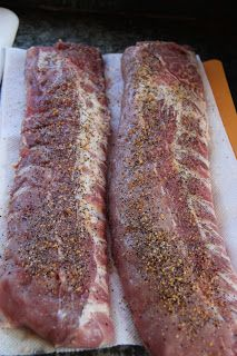 Finger Licking Good BBQ Rib Recipe by Mary Stoecklein. Rib Recipes, Grilling Recipes, Cooking Recipes, Smoker Recipes, Cooking Tips, Bbq Ribs, Pork Ribs, Pulled Pork, Meat Recipes