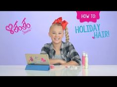 JoJo Siwa Christmas Hairstyle Tutorial | Claire's - YouTube