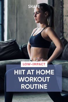 This HIIT workout routine that you can do at home was designed to help you push to your max without pounding your joints. #lowimpacthiit #athomeworkouts #workoutroutine