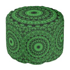 a trendy green pattern with many different shapes that gives it a awesome looks for any product that looks great with green. You can also customize it to get a more personal look. Ottoman Design, Green Pattern, Poufs, Different Shapes, Abstract Pattern, Stylish, Awesome, Outdoor Decor, Modern