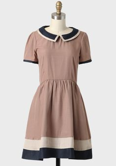Penny Dress In Taupe By Dear Creatures | size large but runs small in bust- Modern Vintage Dresses