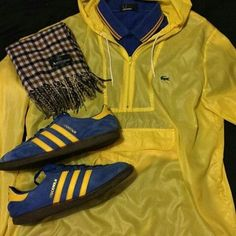 Away Days - Stockholms, Lacoste cagoule, Fred Perry polo and Aquascutum Stylish Mens Outfits, Cool Outfits, Casual Outfits, Fred Perry Polo, Football Casuals, Outfit Grid, Retro, Clothing Items, Designer Wear