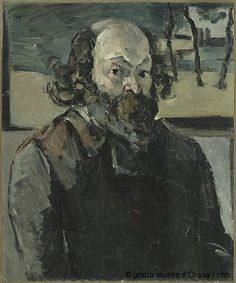 Portrait of artist 1875 Cezanne Oil on canvas Orsay Museum