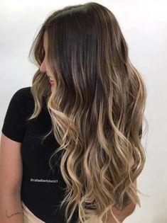 Ombre Hair Color, Hair Color Balayage, Balayage Hairstyle, Long Hair Colors, Fringe Hairstyle, Medium Hairstyle, Easy Hairstyle, Haircolor, Cabelo Ombre Hair