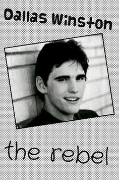 He's my favorite greaser I'm kinda ubsest with the outsiders rn/he is soooo bae💖💘💞💓💕💜💚 Sad Movies, I Movie, The Outsiders Cast, Young Matt Dillon, Dallas Winston, Ralph Macchio, Lets Do It, Tom Cruise, Book Quotes