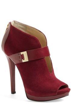 pretty suede peep-toe booties http://rstyle.me/n/nkze5r9te