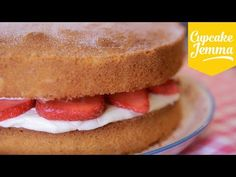 Classic Victoria Sponge Cake Recipe | Cupcake Jemma - YouTube; weigh eggs and make sure that your butter, sugar, and flour are all at the same weight.