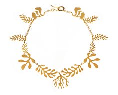Seaweed necklace by Emily Miranda.