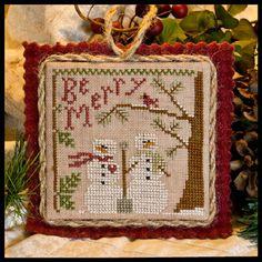 2011 Ornament 10 Snow in Love - Cross Stitch Pattern