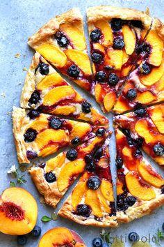 Peach Blueberry Galette | galette | galette recipe