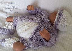 Baby KNITTING Pattern  Download PDF by PreciousNewbornKnits / newborn to 3 mos.