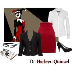 """Harley Quinn 4"" by tiffycuss on Polyvore"