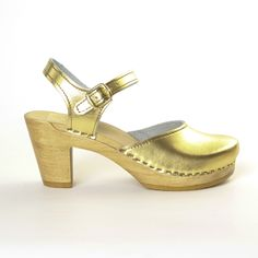 Fab.com | Mary Jane Clog High Gold