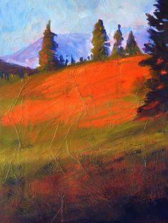 Title: Red Alpine Artist: Nancy Merkle Medium: Painting - Acrylic/mixed Media On Canvas