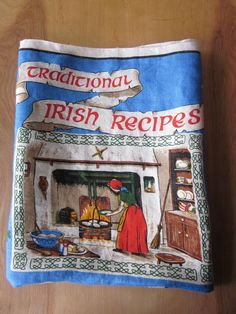 Irish Linen Tea Towel-Traditional Recipes-Fingal of Ireland on Etsy, $10.00