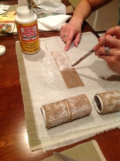 How to make napkin rings!