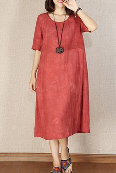 Loose Women Linen Women Maxi Dress by – telma ties gravataria – Join the world of pin Linen Shirt Dress, Linen Dresses, Casual Dresses, Fashion Dresses, Summer Dresses, Linen Dress Pattern, Dress Patterns, Looks Plus Size, Miss Dress