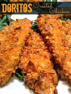 #Yummy #Recipes: #Doritos #Crusted #Chicken #Strips recipe #yummy #foodporn #foodie #etable