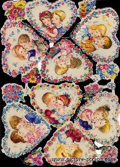 •♥•.¸¸.•♥• Vintage Birthday Cards, Vintage Greeting Cards, Vintage Valentines, Vintage Postcards, Vintage Baby Pictures, Decoupage Printables, Decoupage Vintage, Retro Toys, Free Prints