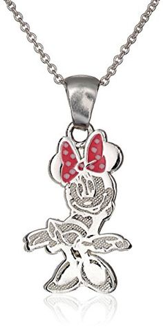 Disney-Minnie-Mouse-Sterling-Silver-Pendant-Necklace