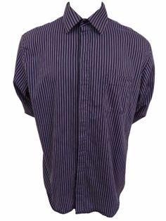 Alfani Easycare Dress Shirt Size 17 1/2 36 XL Button Front Long Sleeve Cotton #Alfani