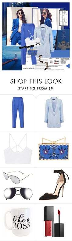 """""""Chic in the city"""" by rainie-minnie ❤ liked on Polyvore featuring Oris, French Connection, Warehouse, MANGO, Sara Battaglia, Linda Farrow, Gianvito Rossi, Moon and Lola and Smashbox"""