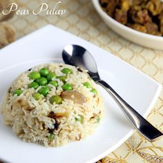 Peas Rice (Peas Pulav)   Simple Indian Recipes