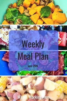 I'm using some of the veggies from my garden for this week's meal plan. Check out what is on this week's menu and what garden goodies I'm using. Weekly Menu Printable, Weekly Menu Template, Meal Planning Printable, Weekly Menu Planning, Grow Your Own Food, Family Meals, Food Videos, Clean Eating, Dinner Recipes