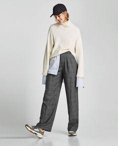ec597000 PANTALÓN ANCHO CUADROS. Zara CatalogueZara WomenPants For WomenTrousers ...