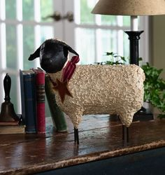 Shop for country crafts online. Many unique home decor and accessory items, handcrafted by artisans all across the U. Order products featured in Country Sampler magazine. Primitive Sheep, Primitive Country Homes, Country Sampler Magazine, Goat Art, Chicken Bird, Craft Online, Pull Toy, Country Crafts, Primitive Christmas
